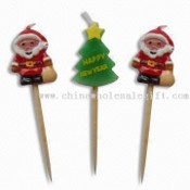 Christmas Small Candle with Sticks to Put onto Cake images
