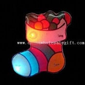 LED Flashing Pin with Magnetic Body in Christmas Stocking Design images