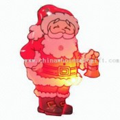 Magic LED Flashing Santa Claus Pin/Badge images