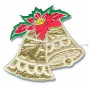 Sew-On Patch in Christmas Bells Design images