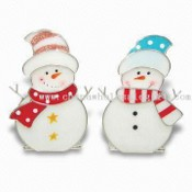 Stained Glass Snowman Ornament images