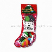 Xmas Cat Gift Stocking with Six Pieces images