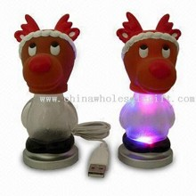 USB Flash Drive Christmas Light with Seven Colors LED and Plug-and-play Function images