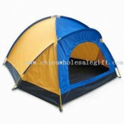 3-person Camping Tent with PE-PVC Waterproof Floor images