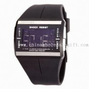 Digital Sports Watch with EL Backlight and Stainless Steel Back Cover images