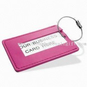 Leather Luggage Tag with Aluminum Card Insert images