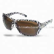 Womens Sunglasses with Animal-patterned Frame images