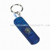 Keyring with Whistle LED Light and Compass images