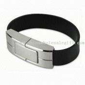 Leather Wristband USB Flash Drive with 32MB to 4GB Flash Memory Storage Capacity images