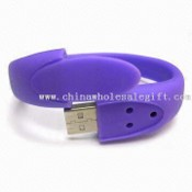 Multifunction Silicone Gel Wristband USB Flash Drive images