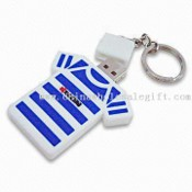T-Shirt Shape PVC USB Flash Drive with Keychain images