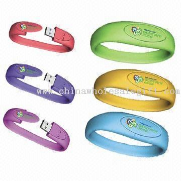 Bracelet USB Flash Drives avec 10 Years Data Retention