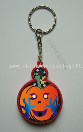 Hallowmas Pre-recorded Sound Led Keychain