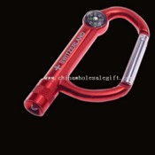 Led Carabiner Keychain With Compass images