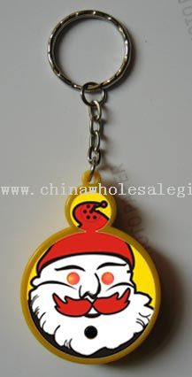 Santa Claus Pre-recorded Sound Led Keychain