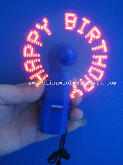 Led Flashing  Message Fan