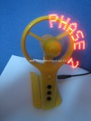 Led Programmable Message  Fan images