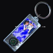 Power Solar LCD Keychains With Compass images