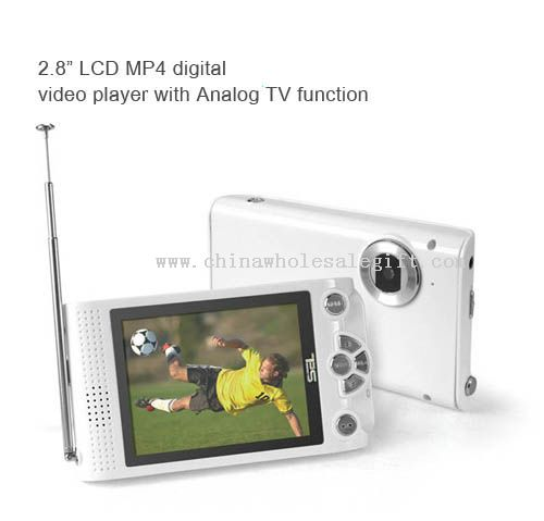 """2.8"""" LCD MP4 digital video player with Analog TV function"""