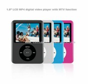 "1.8"" LCD MP4 digital video player with MTV function images"