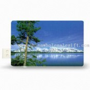 Credit Card-shaped USB Flash Drive with Retractable USB Interface images