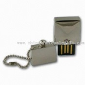 Water-resistant USB Flash Drives with Decorated Precious Stone and Keychain images