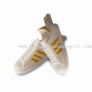 Promotional USB Flash Drive with Shoe Design and Up to 16GB Capacity