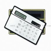 Credit Card Shaped Calculator with Solar Power images