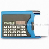 Eight Digits Calculator with Business Card Box and Ball Pen images