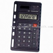 Eight Digits Handheld Calculator with Six Holes to Fix on Note Book images