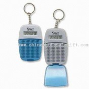 Novelty Calculator with Flip Top Cover and Metal Keychain images