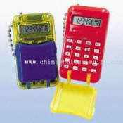 Miniature Eight-digit Calculators with Flip Top Cover and Metal Keychain images