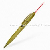 Laser Pointer Pen with Brass Barrel Gold Finish images