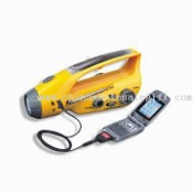 Water-resistant Crank Dynamo Radio Light with Mobile Phone Charger images