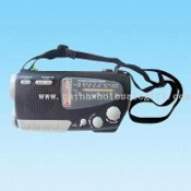 AM/FM/SW1-2 4-Band Multifunctional Dynamo and Solar Radio with Compass/Torch/Thermometer Function images