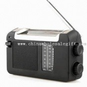 Solar and Hand Powered Radio with FM/AM Function images