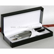 METAL BALLPOINT PEN AND ROLLER PEN WITH MATCHED GIFT BOX images