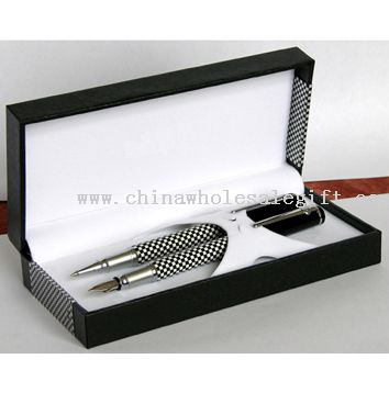 METAL BALLPOINT PEN AND ROLLER PEN WITH MATCHED GIFT BOX