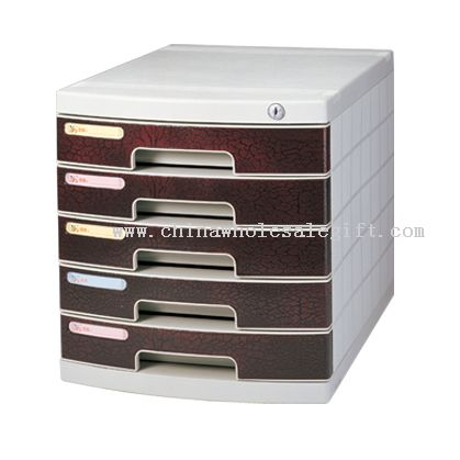 5-Layers file cabinet with lock and empaistic cortex veins