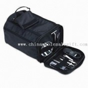 Nine-Piece Toiletry Travel Kit with Mirror and Toothbrush images