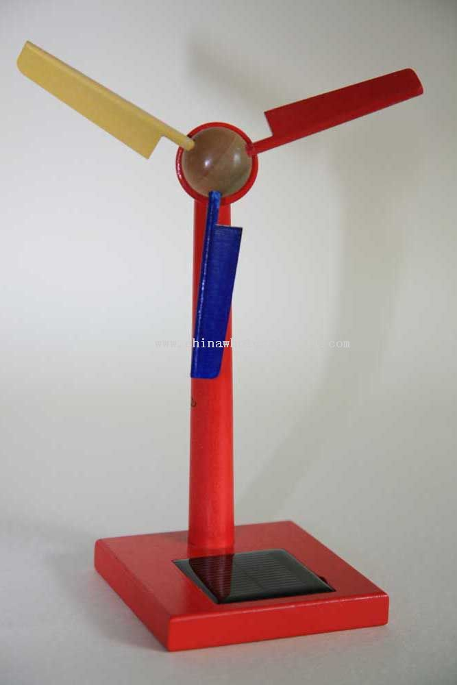 Solar Wooden Wind-Mill