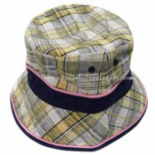 Checked cotton Bucket Hat images