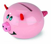 Wooden Pig Money Bank images