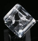 Crystal Laser Paperweight images