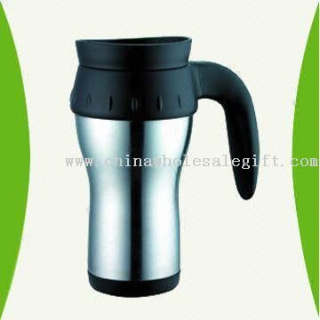 16-ounce Double Wall Stainless Steel Travel Mug with Plastic Inner