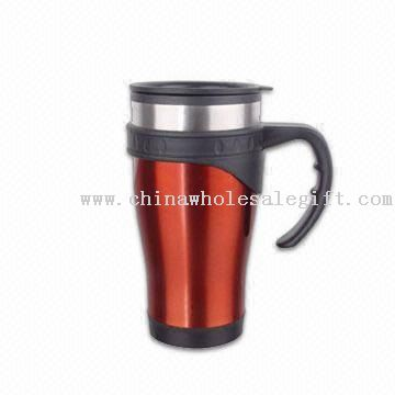 16oz Travel Mug with Outer Plastic Lining