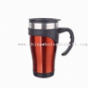 16oz Travel Mug with Outer Plastic Lining images