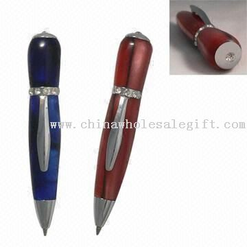Mini Acrylic Pen with Rhinestone Decorated Designs