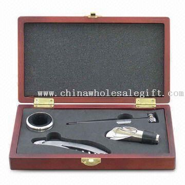 4-piece Wine Set with Waiters Knife and Thermometer