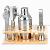 Stainless Steel Cocktail Shaker with Many Tools in it images